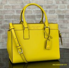 KATE SPADE CAMERON LEATHER SATCHEL CROSSBODY SHOULDER BAG PURSE $399 Yellow