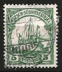 Germany Empire Colonies Southwest Africa 1906 Used 5 Pf Kaiser Yacht Mi-25 SG-25