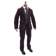 1/6 Action Figure Clothing Deep Red Men Suit Set for 12inch HOT TOYS, DRAGON
