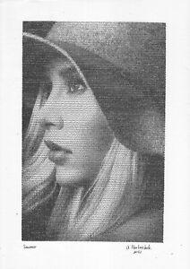 hardware technology print A3 94StA samovar Ink female portrait in hat