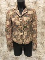 Polo Jeans Co women's Patchwork Paisley Cotton Jacket Blazer Size S button down