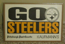 VINTAGE PITTSBURGH STEELERS MAN CAVE SIGN GO STEELERS SHRINK WRAPPED RARE