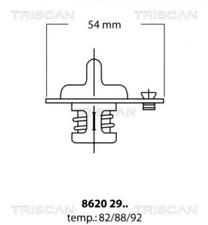 Thermostat, Kühlmittel TRISCAN 86202982 für DAIHATSU ISUZU MITSUBISHI NISSAN