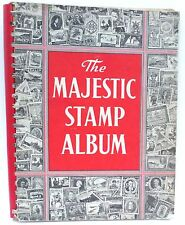 The Majestic Stamp Album 1959  **123 pgs.**  Stamps on 34 Pages  Good Condition!