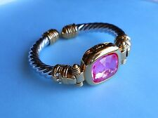 Joan Rivers Cuff Bracelet Classic XV Interchangeable Pink Collection 2 Tone