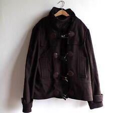 Ladies Barbour Wool and Cashmere Brown Short Duffel Jacket Coat Size UK 14 EU 40