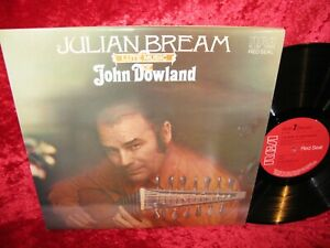 1976 UK NM RCA RL 11491 STEREO JULIAN BREAM THE LUTE MUSIC OF JOHN DOWLAND COVER