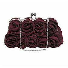 Equilibrium Purple Satin Rose Evening Bag