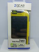 Portable Waterproof Solar Charger Dual USB External Battery Power Bank 4000mAh
