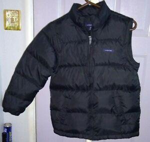 Lands End  Goose Down Black Puffer Jacket   Vest      Medium  10 / 12  EUC