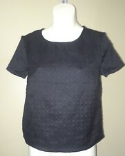 Attention black short sleeve textured top size XS