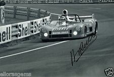 "Le Mans Driver Henri Pescarolo Hand Signed Photo 12x8"" AX"