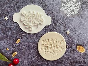Merry Xmas | Embossing Stamp | ebs226 | Christmas | Cupcake | Fondant Cake