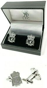 LIVERPOOL FC CREST STAINLESS STEEL -  MENS EXECUTIVE SHIRT CUFFLINKS LFC BOXED