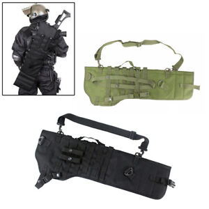 Tactical Molle Shotgun Scabbard Holster Rifle Sling Case Bag for Outdoor Hunting
