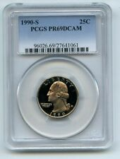 1990 S 25C Washington Quarter Proof PCGS PR69DCAM