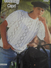 Wendy Ladies Lace and Cabled Sweater Knitting Pattern 3004 Sz 76-102cm 30-40in