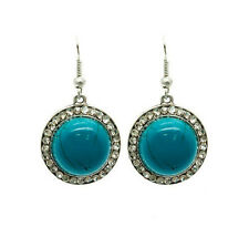HORSE & WESTERN JEWELLERY JEWELRY LADIES WOMENS TURQUOISE CRYSTAL EARRINGS