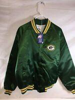 Vintage Green Bay Packers Chalk Line Satin Snap Up Jacket Men's XL NEW w/ Tags