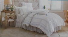 Simply Shabby Chic Bohemian Blue Embroidered Duvet Cover Shams Set ~ NEW Twin