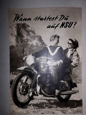 Original brochure NSU Oldtimer 1950 Max LAMBRETTA SUPERLUX Quickly Fox Moto