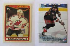 1990-91 Topps #358 Kasatonov Alexei tiffany RC  devils