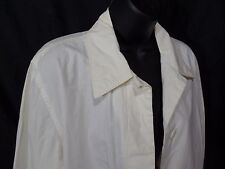Women's Large White Jacket Fall Coat Cotton Size L Buttons Express World Brand
