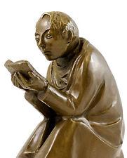 Moderne Kunst Bronze - Der Buchleser - 1936 signiert  E. Barlach