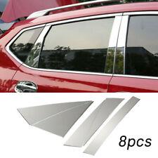 8pcs Verchromt Edelstahl Fenster Säule Sticker Schutz für Nissan