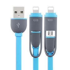 universal 2 in 1 charger cable charging cord USB Data Line multiple