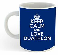 keep calm and love DUATHLON Taza - Azul