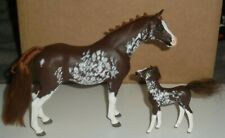 More details for magpie models arab arabian horse mare and foal customs liver chestnut sabino