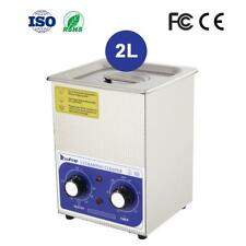New 100w 2l Stainless Steel Ultrasonic Cleaner Sonic Cleaning Equipment Parts