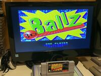 🔥💯 TESTED WORKING SUPER NINTENDO SNES GAME CARTRIDGE 🔥 BALLZ 3D 🔥