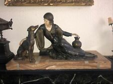 More details for menneville french art deco girl & dog c.1930
