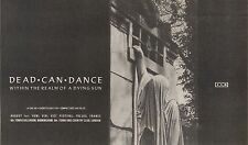 1/8/87PNO2 ADVERT: DEAD CAN DANCE WITHIN THE REALM 0F A DYING SUN 6X11