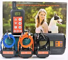 Remote 3- Dog Training Collar In-ground Electric Containment Fence System Combo