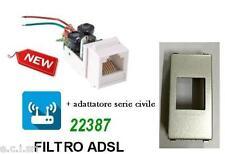 FILTRO ADSL RJ11 DA INCASSO FRUTTO PER VIMAR EIKON NEXT
