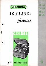 Service Manual-Anleitung für Grundig TK 30,TM 30,TK 32,TK 35