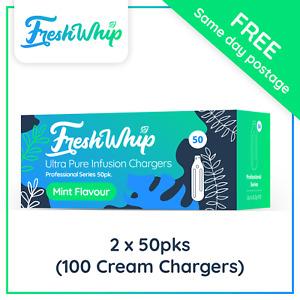 FreshWhip MENTHOL Flavour 8.2g N20 Bulbs - 50 PACK X 2 (100 CREAM CHARGERS)