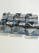 STAR WARS HOT WHEELS Lot Of 6 Different SPACECRAFTS With Stands STAR SHIPS - NEW