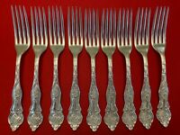 VINEYARD aka GRAPE Williams Bros Silverplate Set of 9 DINNER FORKS 1906