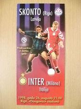 1998 UEFA Champion League- INTERNAZIONALE MILANO v SKONTO (RIGA)