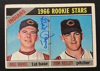 Bill Davis Indians Signed 1966 Topps Rc Rookie Card #44 Auto Autograph