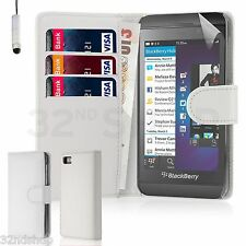 32nd Book Wallet PU Leather Case Blackberry PHONES Screen Protector & Stylus