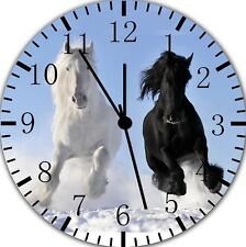 Horse in The Snow Frameless Borderless Wall Clock Nice For Gifts or Decor E355