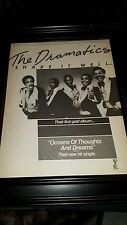 The Dramatics Shake It Well Rare Original Promo Poster Ad Framed!