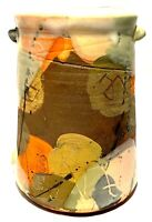SIGNED VINTAGE STUDIO ART POTTERY ABSTRACT GLAZE MODERNIST VASE