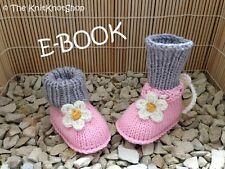 PDF E-Book digitale Strickanleitung Babyschuhe Flower - Blume
