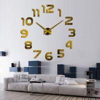 Wall Clock Sticker Mirror Large 3d Diy Home Art Decor Modern Surface Watch Gift